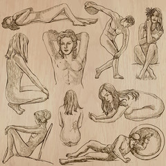 Nudity in Art - Hand drawn vectors