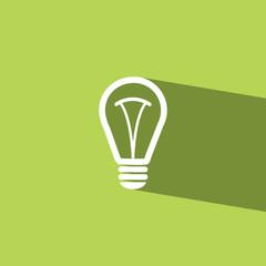 bulb flat icon  vector illustration eps10