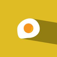 fried eggs flat icon  vector illustration eps10