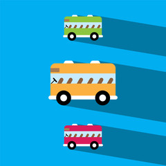 school bus flat icon  vector illustration eps10