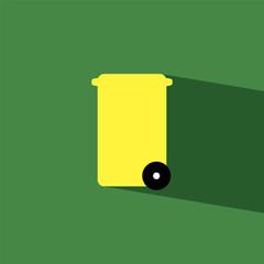 bin flat icon  vector illustration eps10