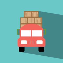 truck flat icon  vector illustration eps10