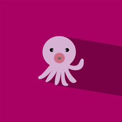 squid flat icon  vector illustration eps10