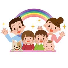 笑顔の幸せ家族