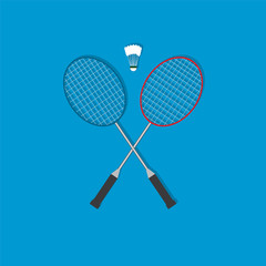 badminton flat icon  vector illustration eps10
