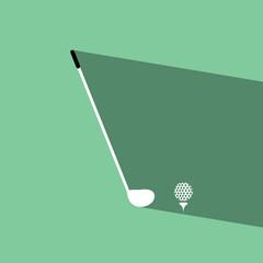 golf flat icon  vector illustration eps10