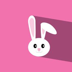rabbit flat icon  vector illustration eps10