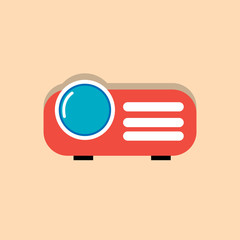 projector flat icon  vector illustration eps10