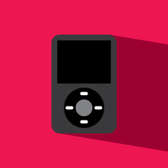 music player flat icon  vector illustration eps10