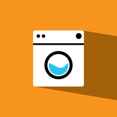 Washer flat icon  vector illustration eps10