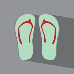 Sandals flat icon  vector illustration eps10