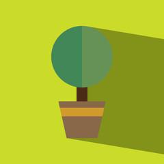 plant flat icon  vector illustration eps10