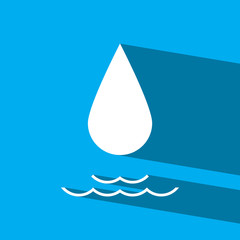 water drop flat icon  vector illustration eps10