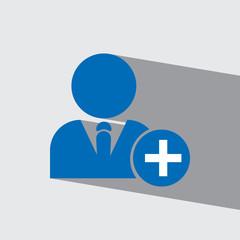 add friend flat icon  vector illustration eps10