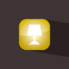 lamp button icon flat  vector illustration eps10