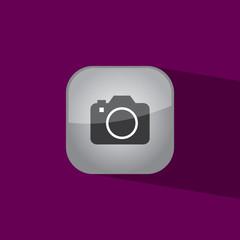camera button icon flat  vector illustration eps10