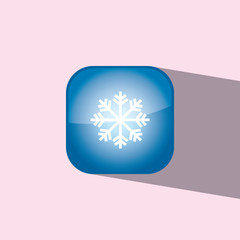 snow button icon flat  vector illustration eps10