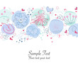 Abstract floral springtime greeting card vector