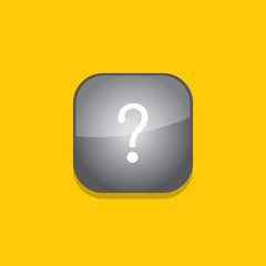questionmark button icon flat  vector illustration eps10