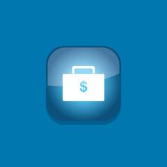 money bag button icon flat  vector illustration eps10
