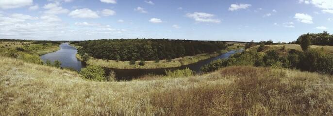 панорама реки. украина. река Волчья