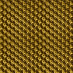 Golden flowers, fleece, curly abstract background design
