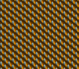 Orange blue brown zigzag plait seamless pattern