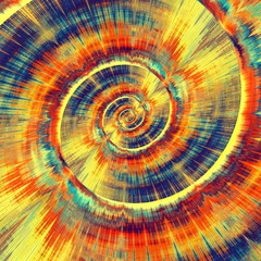 Colorful Psychedelic Spiral. Abstract Bright Vortex. Design.