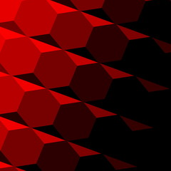 Abstract Red Geometric Texture. Dark Shadow. Technology Pattern.