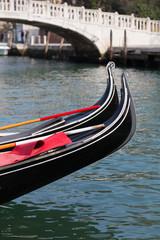 Closeup to Part of Gondolas Boats