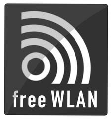 free Wlansymbol, schwarz