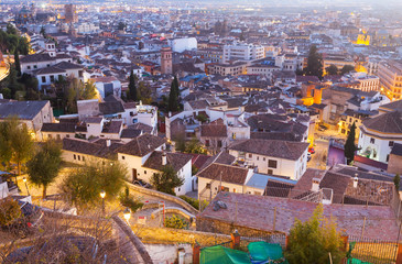 Granada in evening