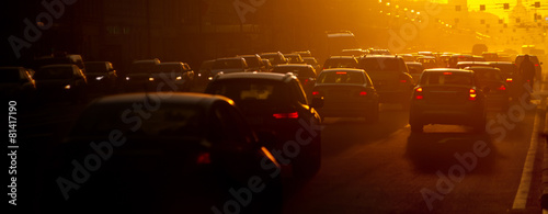 canvas print picture Traffic jam