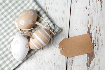 Easter eggs decoration with space for text