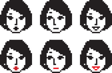 Young Woman Pixel Faces One