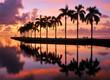 Leinwanddruck Bild - Miami Sunrise