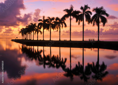 Foto op Aluminium Zee / Oceaan Miami Sunrise