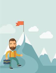 Businessman will climb to achieve success