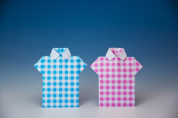 折り紙のシャツ