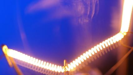 Incandescence thread, close up. 4K UHD video.