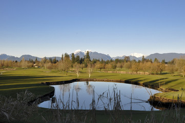 Beautiful golf course in Vancouver