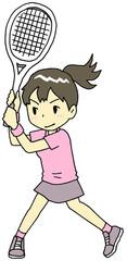 テニス 女性 両手