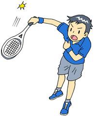 テニス 男性 サーブ