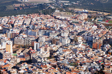 Residential districts in andalusian city.  Jaen, Spain