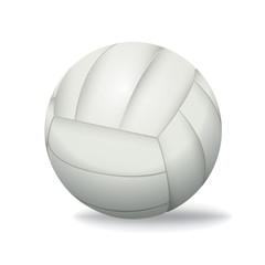 White Volleyball Isolated on a White Background Illustration