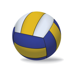 Volleyball Isolated on White Illustration