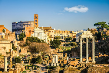 Forum and Coliseum in Rome