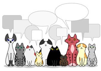 猫 グループ 吹き出し