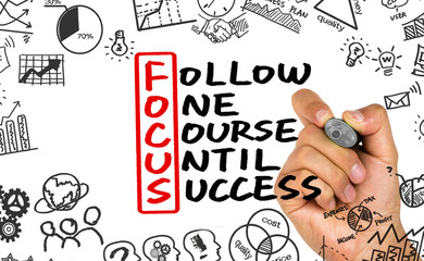 follow one course until success