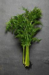Dill on stone table
